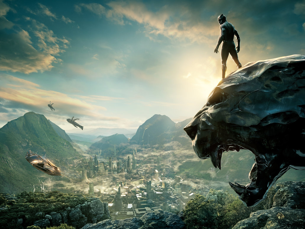 Black Panther Textless Poster Mrwonderworks Wakanda